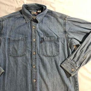 Levi's jeans denim jacket size medium